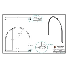 Specs for 425, 525, 725 & 1025 Gallon Elliptical Leg Tank Band