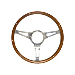 "1965-73 Shelby Cobra Style Genuine Wood & Aluminum 14"" 9 Hole Steering Wheel"