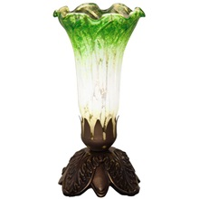 "8""H Cordless Green and Silver Lily Uplight"