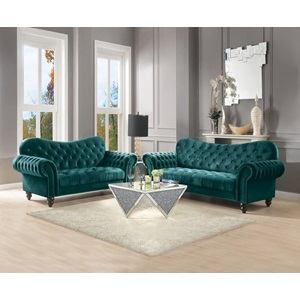 53402 GREEN IBERIS LOVESEAT