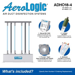 AeroLogic Model ADHO18-4 Included Accessories