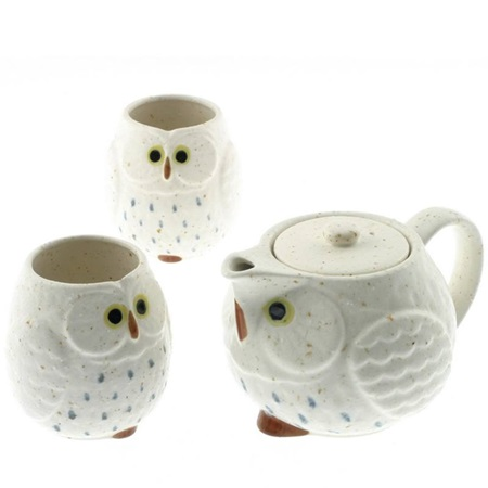 Tea Set Owl White