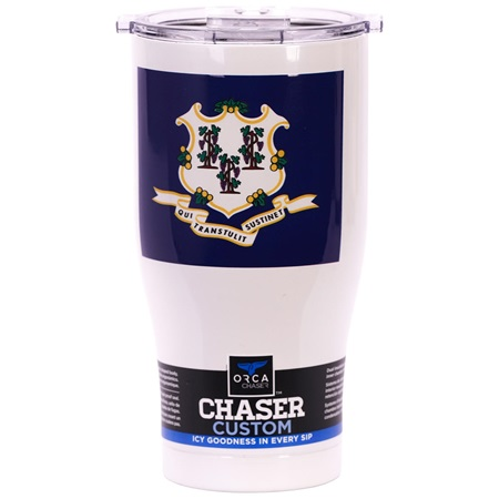 Connecticut State Flag Chaser 27oz