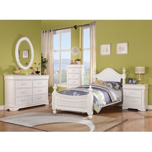 30132 WHITE LINGERIE CHEST