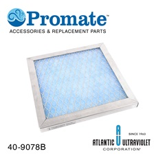 "Filter: 9-7/8"" x 9-7/8"" x 1"" Washable / Electrostatic"