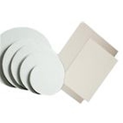 "19 X 14"" WHITE COATED CAKE PAD, 1/2 SHEET,"