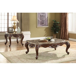 81655 COFFEE TABLE W/MARBLE TOP