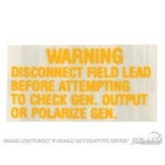 Voltage Regulator Warning Decal