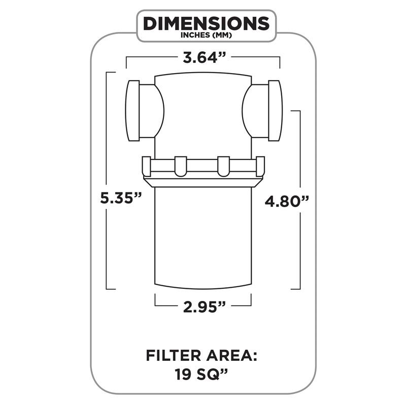 Braber Equipment - Standard Nylon FPT Strainer - Clear Bowl