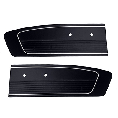 1964.5-66 Mustang Standard Door Panels-Black