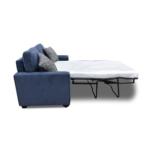 52294 BLUE FABRIC LOVESEAT W/SLEPPER