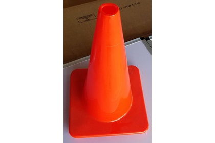 "18"" Traffic Cone - Red & Orange"