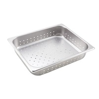 "Economy Perforated Anti-Jam 1/2 Size, 2-1/2"" D Steam Table Pans"