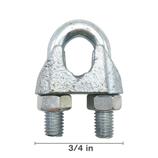 "3/4"" Malleable Wire Rope Clip"