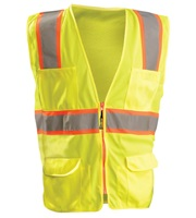 High Visibility Classic Mesh Two-Tone Surveyor Safety Vest