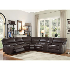 54155 SAUL BROWN POWER SEC. SOFA