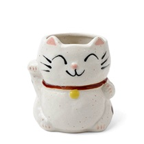 Mug Fortune Cat White with Spots