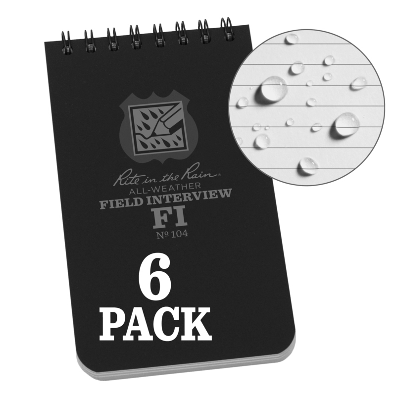 Field Interview Notebook (6-pack)