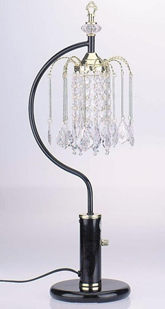 "03720BK 27"" SINGLE CHANDELLER TB LAMP"