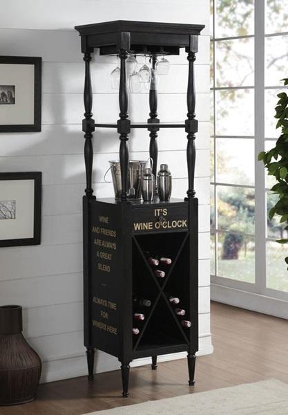 GRAIN BLACK WINE CABINET