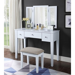 90362 SEVERUS WHITE VANITY SET