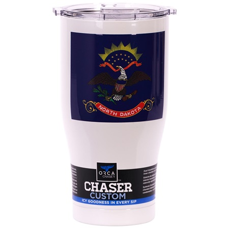 North Dakota State Flag Chaser 27Oz