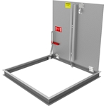 Non-Drainable Diamond Tread Floor Door, 300psf