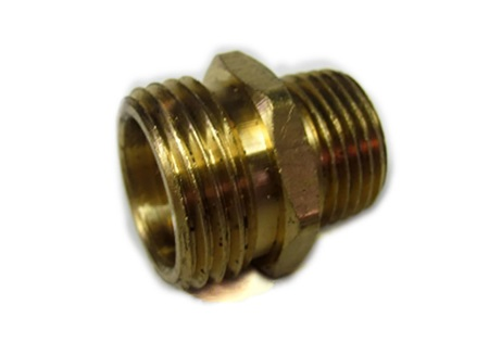 "Brass Male Garden Hose Adapter x 1/2"" Male Garden Hose Thread"