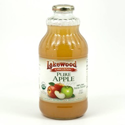 Pure Apple Juice, Organic (Lakewood) - 32oz
