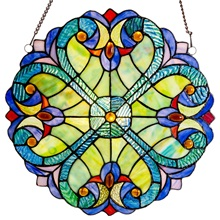 "12""H Stained Glass Halston Window Panel"