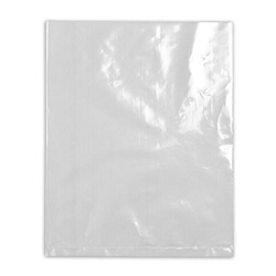 "16 X 24"" 2 MIL CLEAR FLAT POLY BAG,"