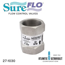 "Flow Control: 30 GPM 1-1/2"" FNPT - NSF 61 / 372 Approved - 304SST"