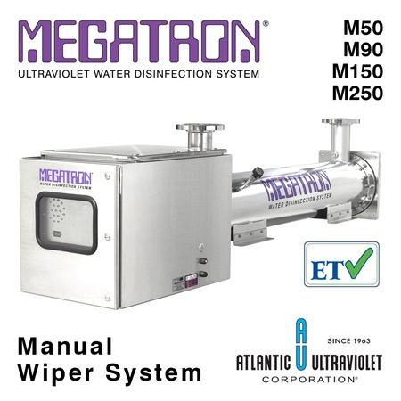 Megatron UV Water Disinfection 90–450 GPM Manual Wiper