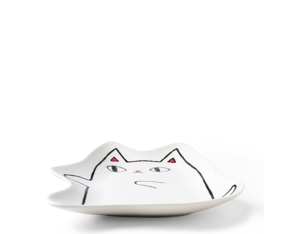 Cat Pals Plate Shiro