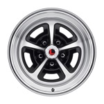 15 x 7 Magnum Alloy Wheel, 5 on 4.5 BP, 4.25 BS, Gloss Black / Machined