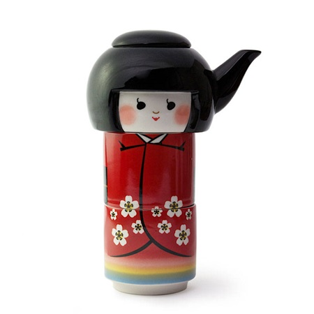 Kokeshi Tea Set
