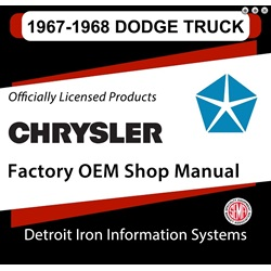 1967-1968 Dodge Truck Factory Shop Manual, CD