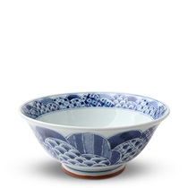"Blue & White Patterns 7.5"" Noodle Bowl"
