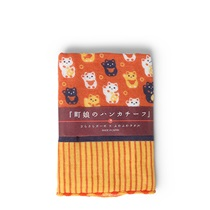 "Towel 9.75"" Sq. Fortune Cats"