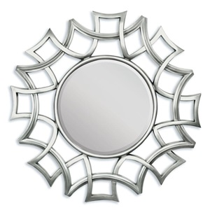"97055 SILVER ACCENT MIRROR, 40""D"