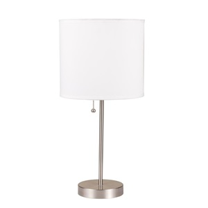 40042 TABLE LAMP W/WHITE SHADE