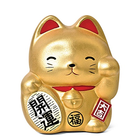 Feng Shui Fortune Cat Bank - Gold