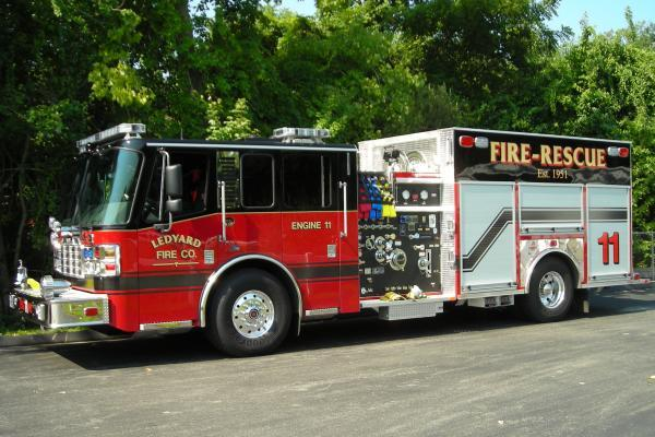 Ledyard Fire Department's new Ferrara Fire Apparatus custom Fire Truck