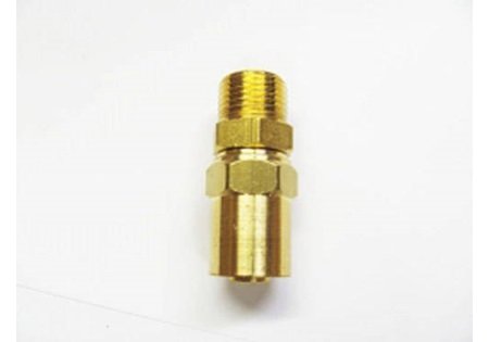 "Brass 3/8"" MPT x 1/2"" Reusable Hose End"