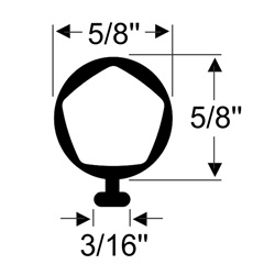 RV Slide-Out Bulb Seal