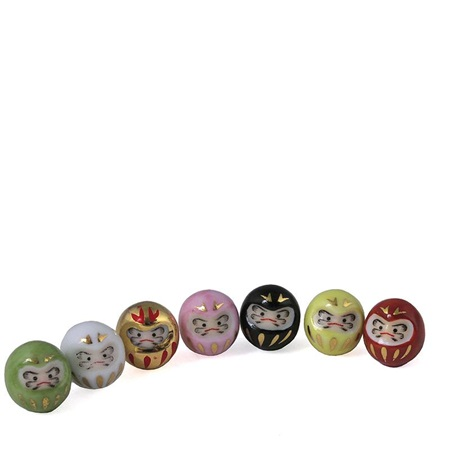 Mini Ceramic Figurines - Daruma