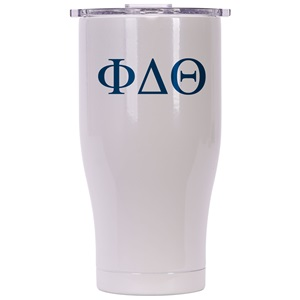 Phi Delta Theta Pearl/Clear Chaser 27oz