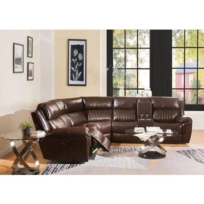 53695 LONNA BROWN SECTIONAL SOFA