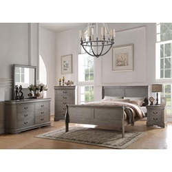 23860Q LOUIS PHILIPPE GRAY QUEEN BED