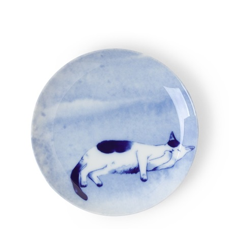 Blue Cat on Side Plate